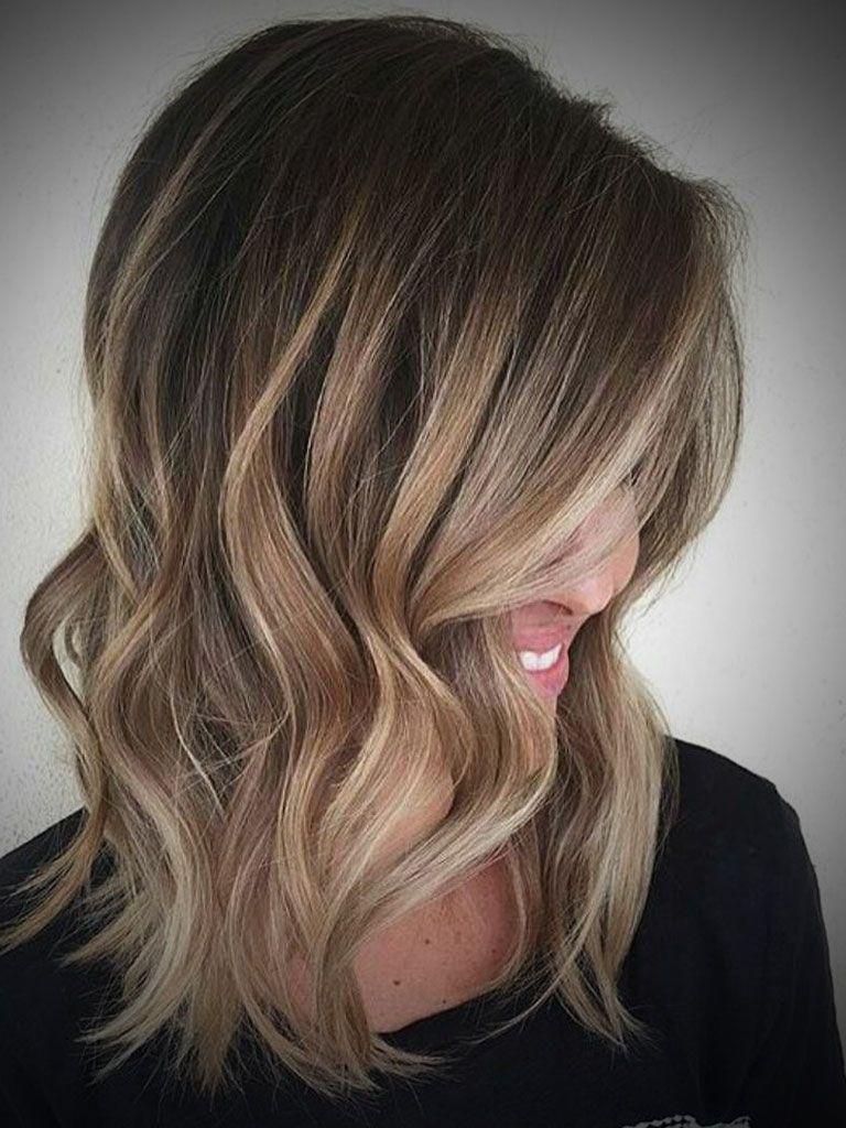 Ombre Hair Dark Brown To Blonde Medium Length | Make me ...  Ombre Hair Dark...