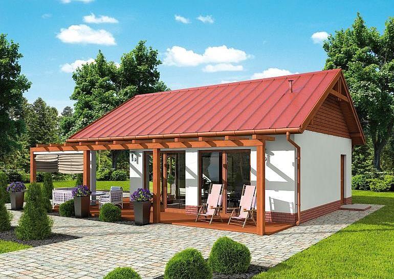 Projekt Kuchni Letniej Kl12 Kuchnia Letnia Bud Gospodarczy 43 12 M2 Koszt Budowy 57 Beach House Exterior Small House Design Plans Philippines House Design