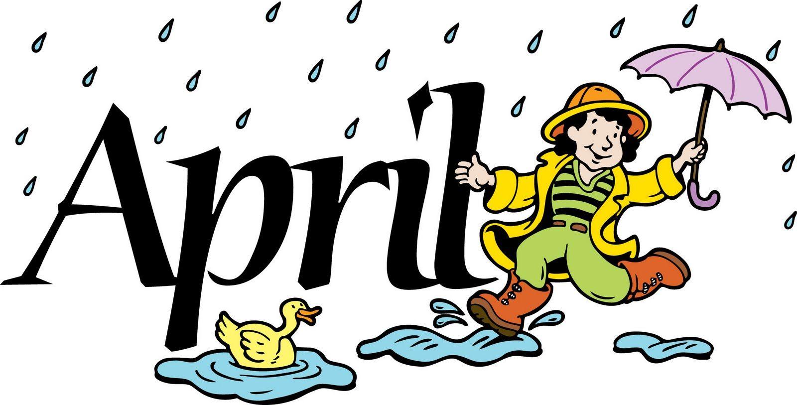 Month April clipart pictures 2019