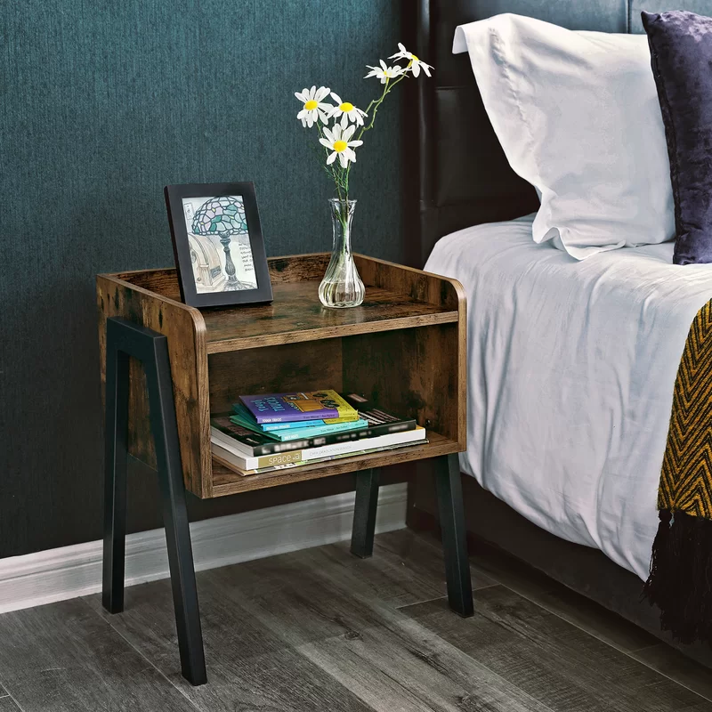 Osiris Wood Stackable End Table With Storage Table For Small