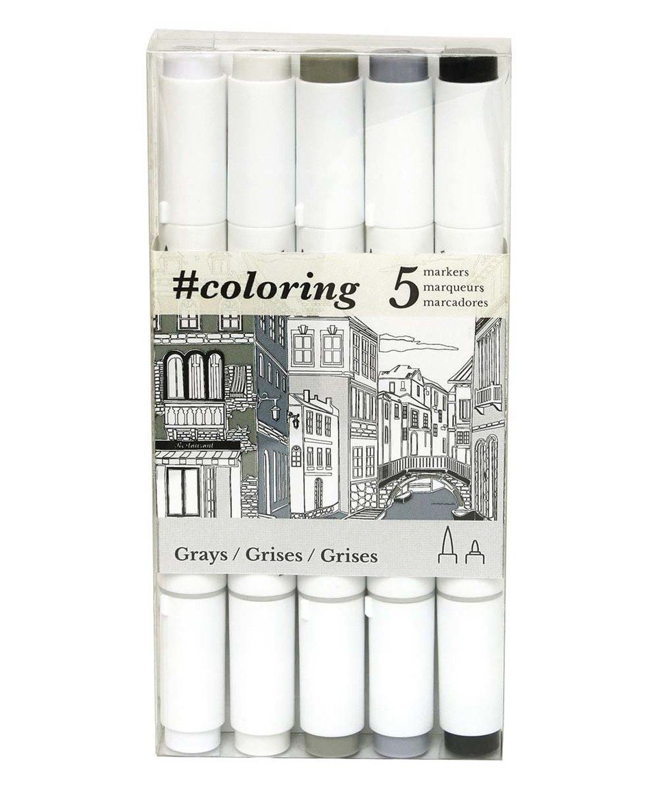Another great find on #zulily! Johanna Basford 5-Ct. Gray Marker Set by Johanna Basford #zulilyfinds