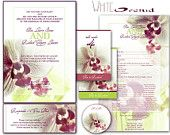 Printable VINTAGE WEDDING INVITATIONS Template Pink by ABandIG. $20.00, via Etsy.
