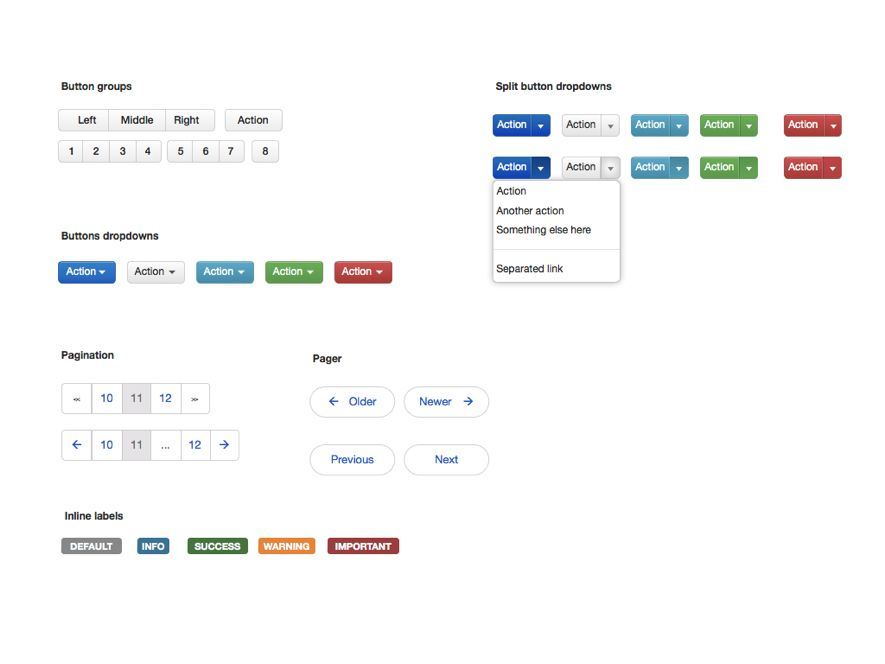 Free Twitter Bootstrap GUI Toolkit for Illustrator, Fireworks, Visio