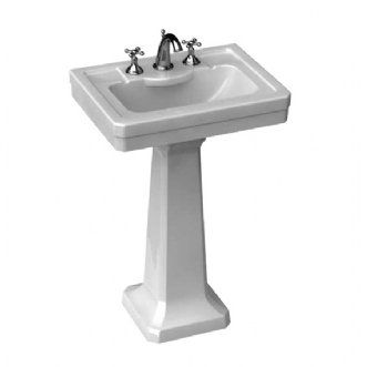 Porcher 24020 03 White Sink Fire Clay Bathroom Faucets