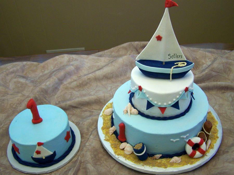 Sensational Nautical Theme Nautical Birthday Cakes First Birthday Cakes Funny Birthday Cards Online Sheoxdamsfinfo
