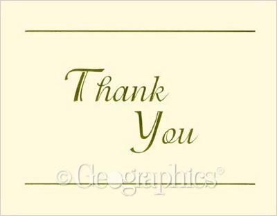 Ivory Gold Foil, Thank You Cards w/ Envelopes, 24/PK resume
