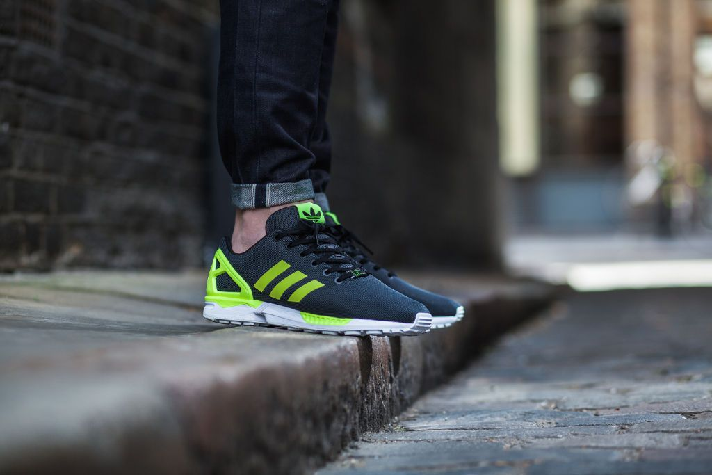 quality design hot sales cheap sale adidas ZX Flux Base Pack Grey/Yellow On-Foot | Shoes I like ...