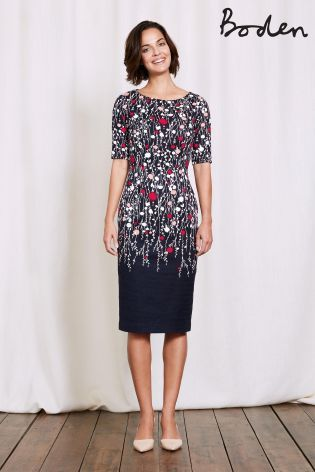 Buy Boden Navy Trailing Floral Placement Imogen Dress From The Next Uk Online Shop Dresses Lovely Clothes Fitted Dress