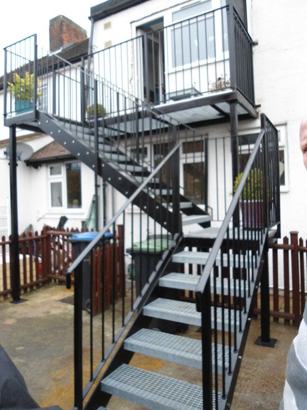 Best Fire Escape Installation Edmonton External Staircase 640 x 480