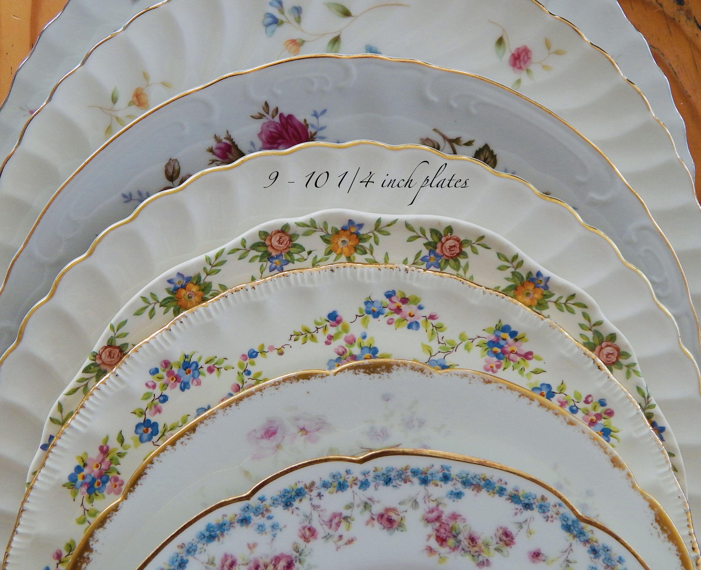 China Dinner Plates 20 Bulk Mismatched Vintage China Plates