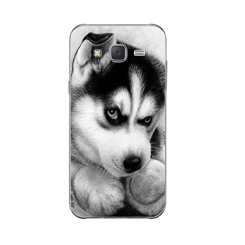 phone case for samsung galaxy back cover grand prime shell soft tpu cellphone wacky husky design painted