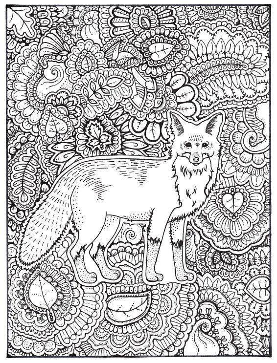 Pin by Jerry Richter on Coloring Pages | Fox coloring page ...