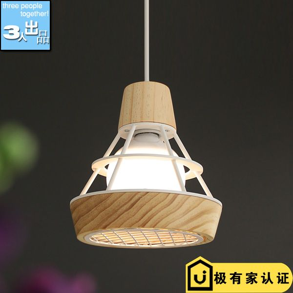 Nordic style modern wooden E27 Pendant Lights dining room bedroom