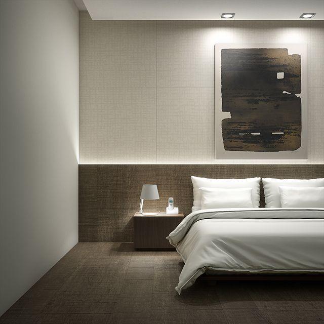 Dormitorio Pavimento Porcel Nico De Gran Formato Imitando