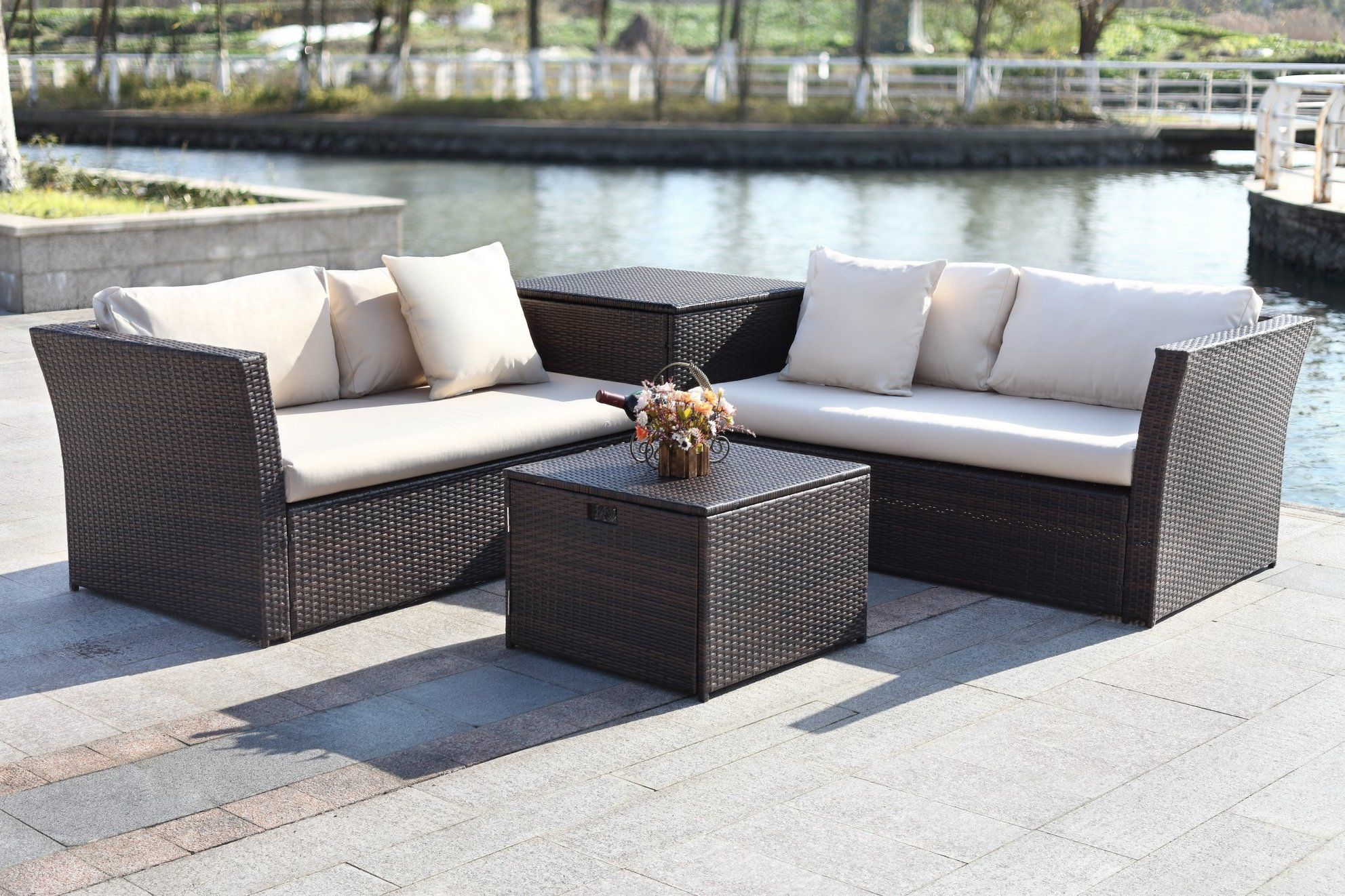 Marguerite Piece Sectional Seating Group with Cushion Products