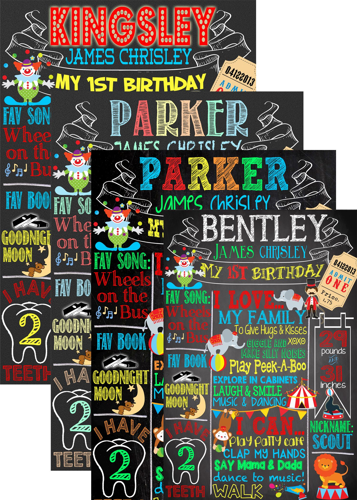 circus themed birthday party deco, carnival themed birthday party idea