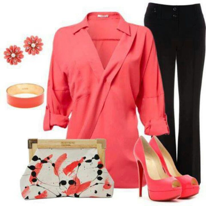 Coral with black