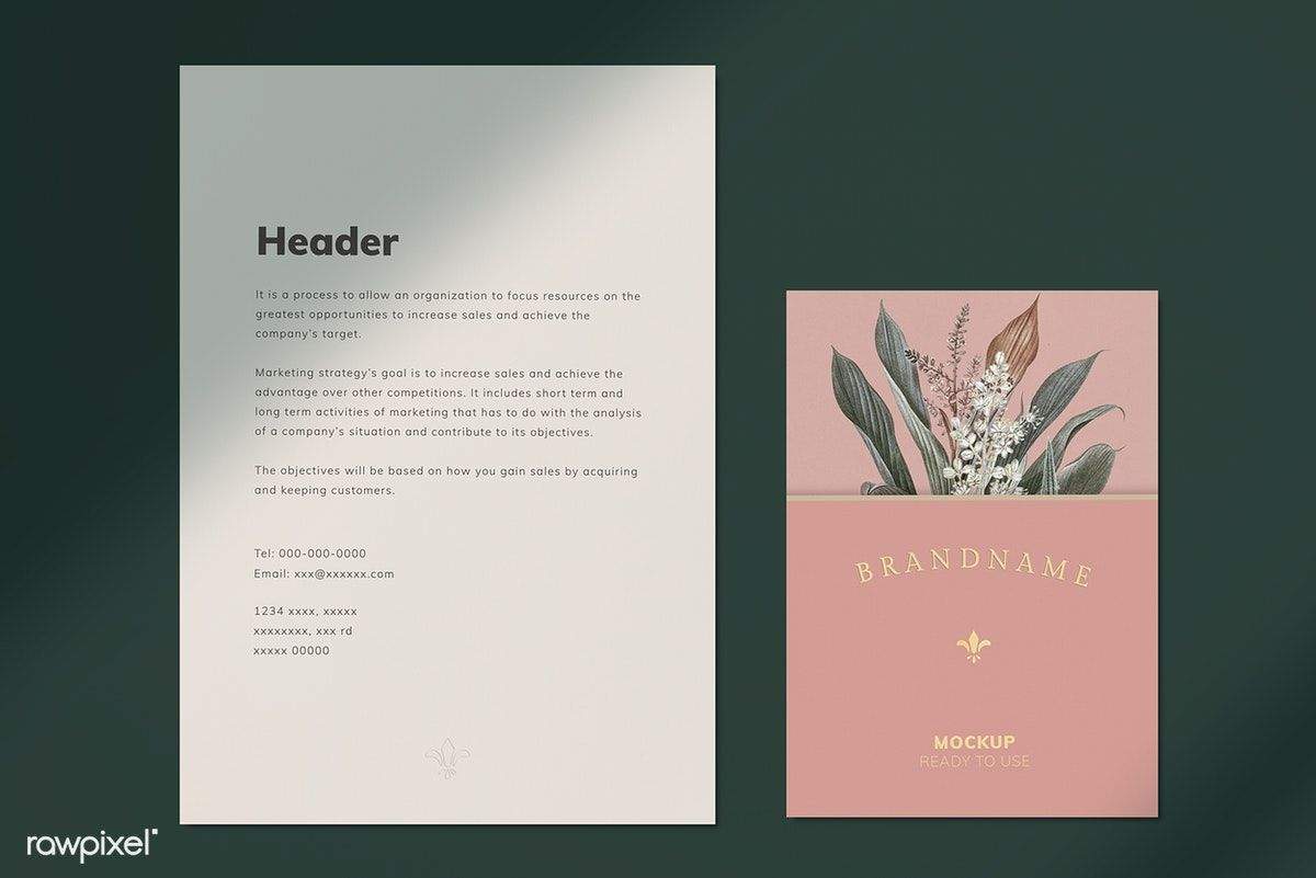Document Mockup On A Plain Background Free Image By Rawpixel Com