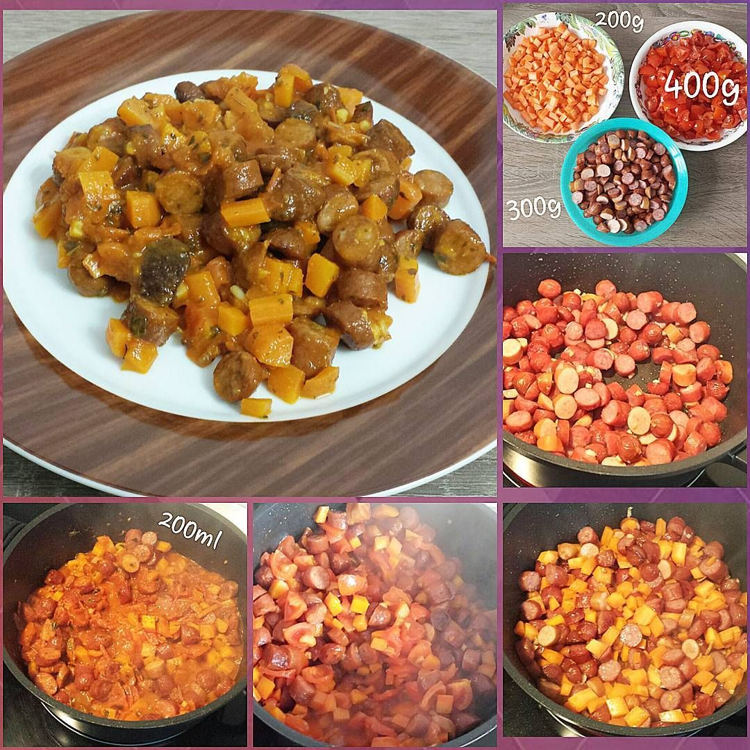 """#Tomaten- #Möhren- #Cabanossi- Topf. Imitated? -> please link me. #Karotte #Tomatenmark #Basilikum #Knoblauch #carrot #basil #garlic  #stepbystep…"""