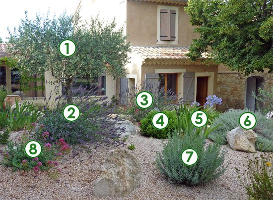 Un coin de jardin qui ne craint pas la s cheresse sc nes - Creer un jardin mediterraneen ...