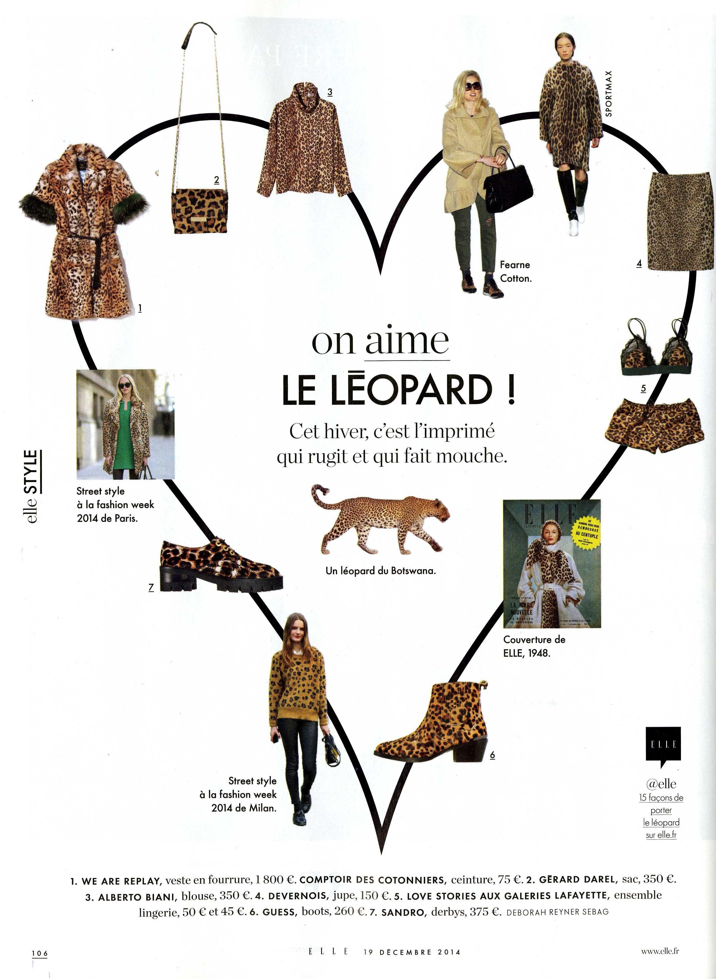 Graouuu RRR on ne quitte plus le léopard !! @magazineellefr