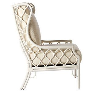 Selamat Harper Rattan Wingback Chair Ivory Accent U0026 Occasional Chairs