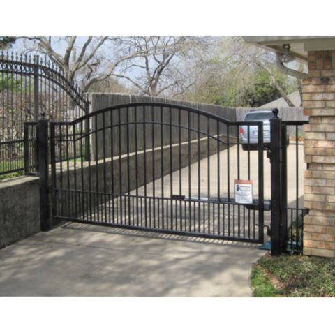 Mighty Mule Single Swing Biscayne Gate 12 Ft W Tractor Supply Co Driveway Gate Driveway Fence Gate