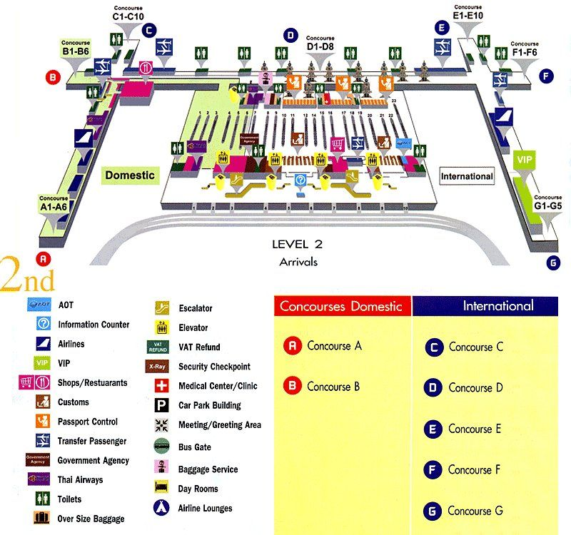map / plan of Suvarnbhumi Airport Arrival Hall and exits