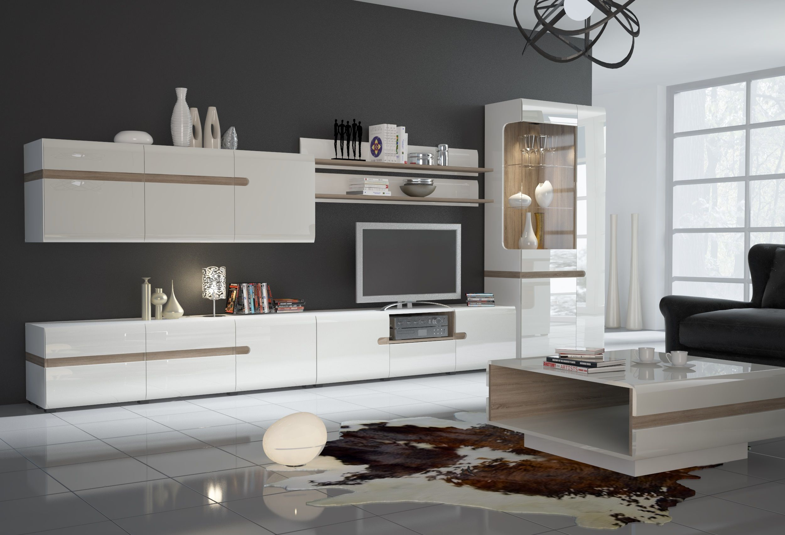 Linate 3 Modern Wall Units Entertainment Centers Tv