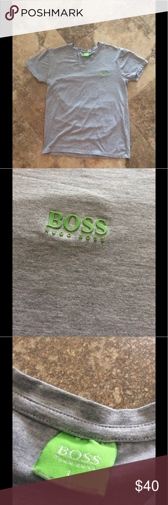 Hugo Boss V-Neck Tee Size Large A very nice basic tee, has been worn, costs about $80 at hugoboss.com, cop this piece before it goes! Hugo Boss Shirts Tees - Short Sleeve