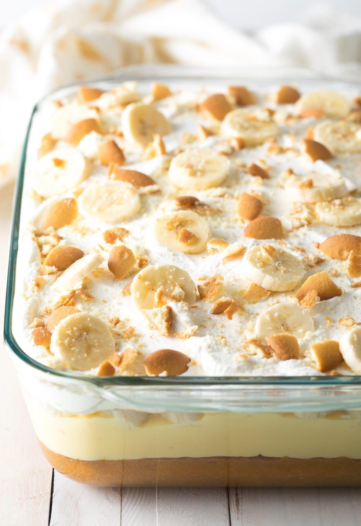 409d9da58ba1 Layered Banana Pudding Bake Recipe  ASpicyPerspective  easter  bananacake   spring  potluck