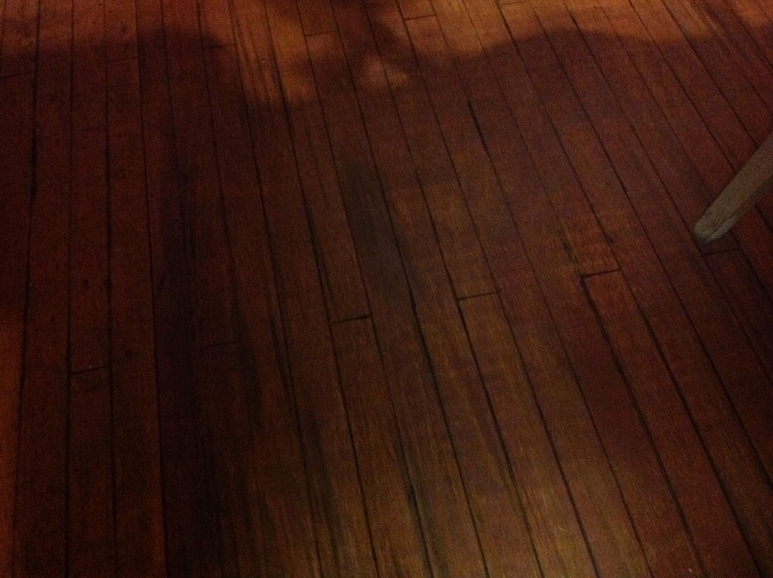 Plywood floor We stained a subfloor with cherry stain and used an