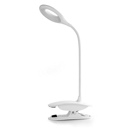 Clip Desk Lamp Table Led Bulb Lamps Set Usb Outlet White Modern Shade Gooseneck Dimmable Light Clamp Base Touch Sensor Switch C Modern Shade Lamp Sets Led Bulb