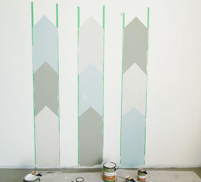 Wandgestaltung Selber Machen Mit Farben Coole Muster Streichen Wandgestaltung Wohnzimmer Farbe Wohnzimmer Farbe Wandgestaltung