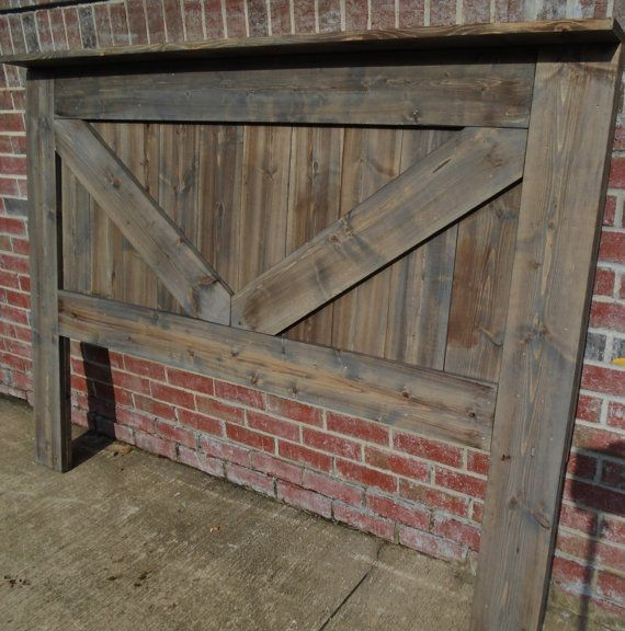 Rustic King Headboard Queen In Vintage Designed Barn Door Style From Solid Knotty Pine