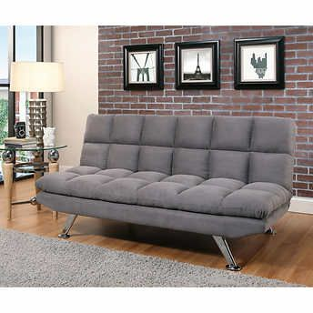 Clarence Fabric Euro Lounger Gray