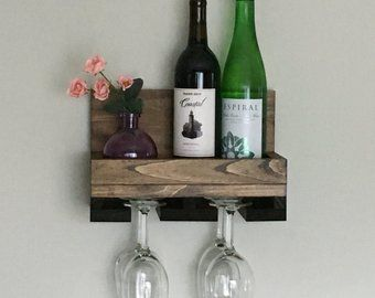 wood wine rack shelves wall mounted shelf stemware glass on simple effective and easy diy shelves decorations ideas the way of appearance of any space id=82534