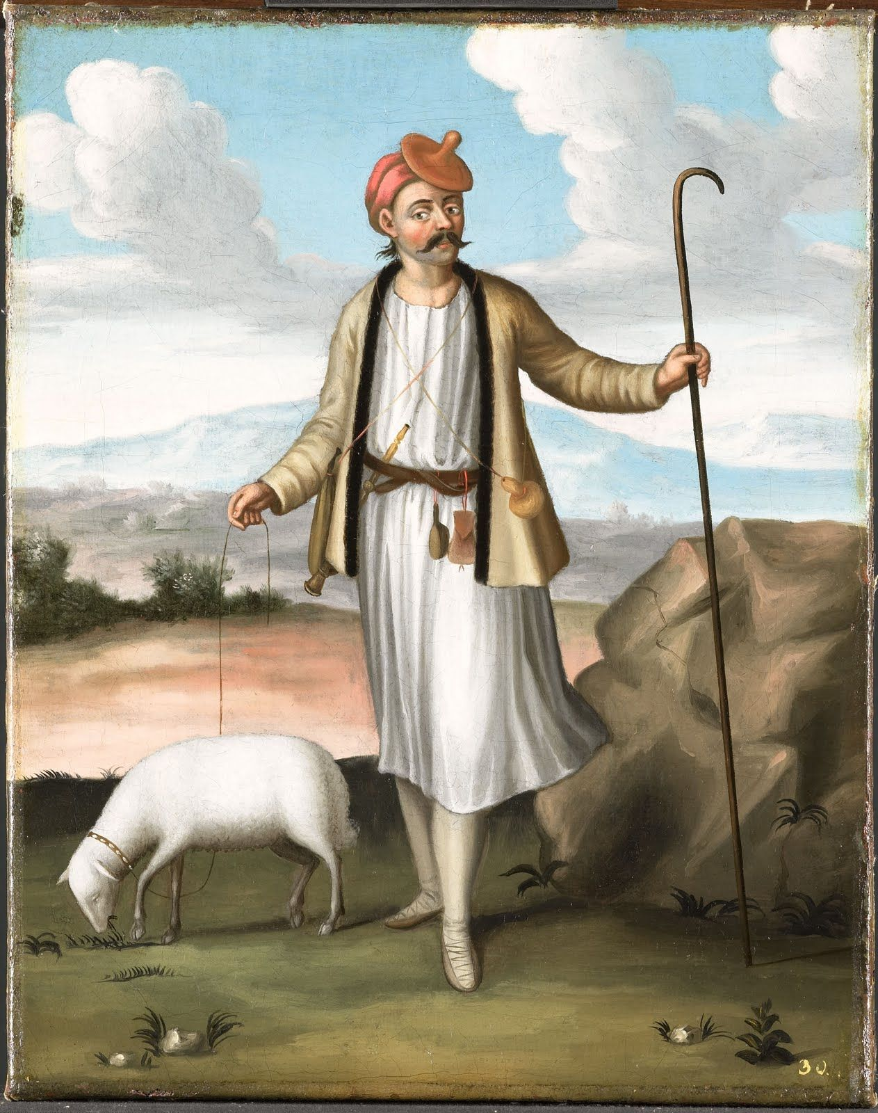The Albanian Shepherd Vanmour Jean Baptiste Art Art Print Collection Art Prints