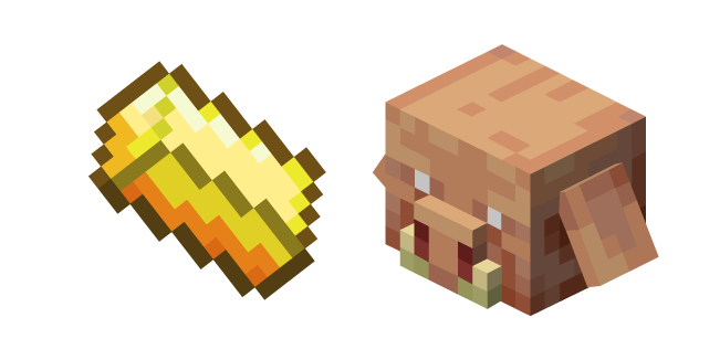 Minecraft Gold Ingot And Piglin Ingot Minecraft Custom