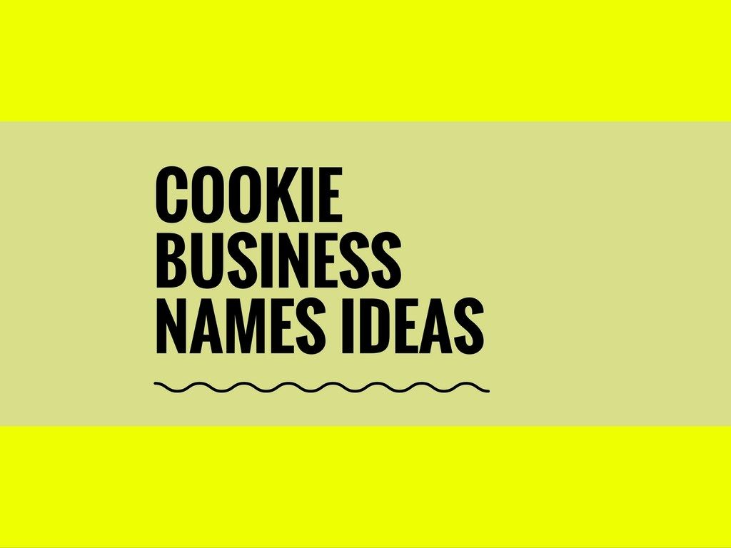 269 Best Cookie Company Names Ideas Video Infographic