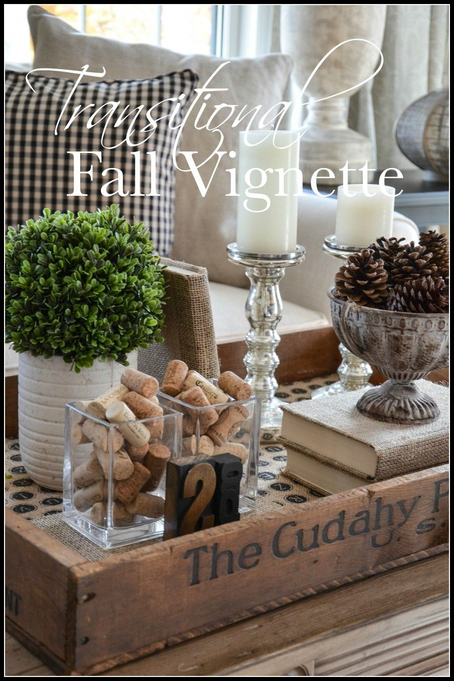 Transitional Fall Vignette Coffee Table Vignettes Fall