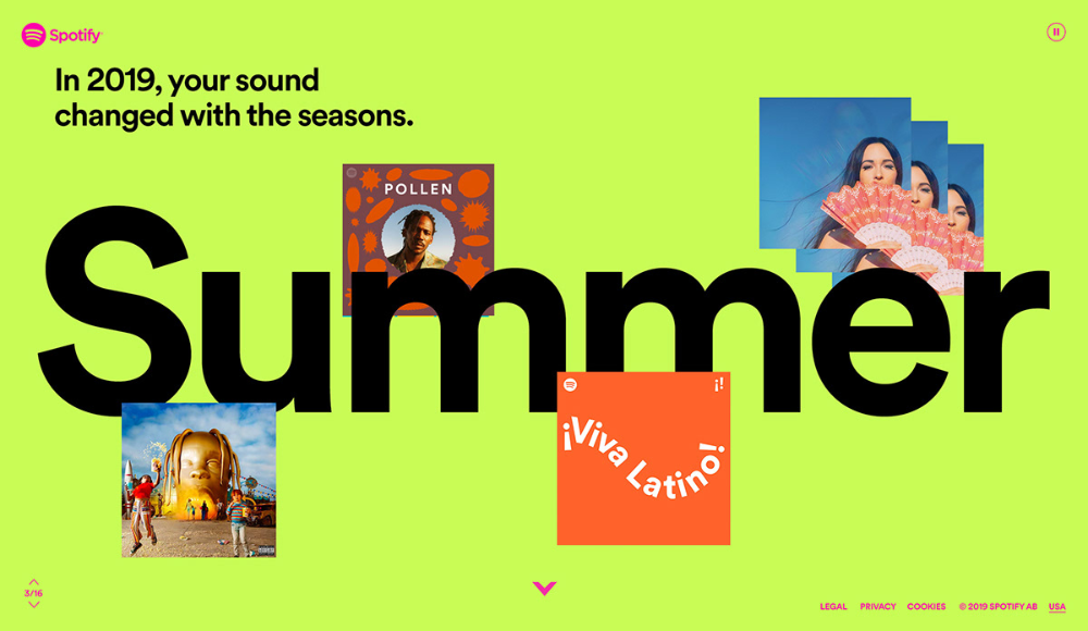 Spotify A Decade Wrapped on Behance in 2020 Spotify, A