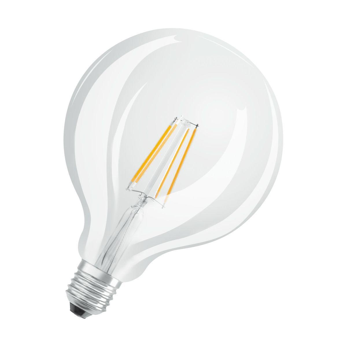 Ampoule Led Filament Globe E27 2700k 7w 60w 806 Lumens O12 5cm Dimmable Taille Taille Unique Led Filament Ampoule Et Led