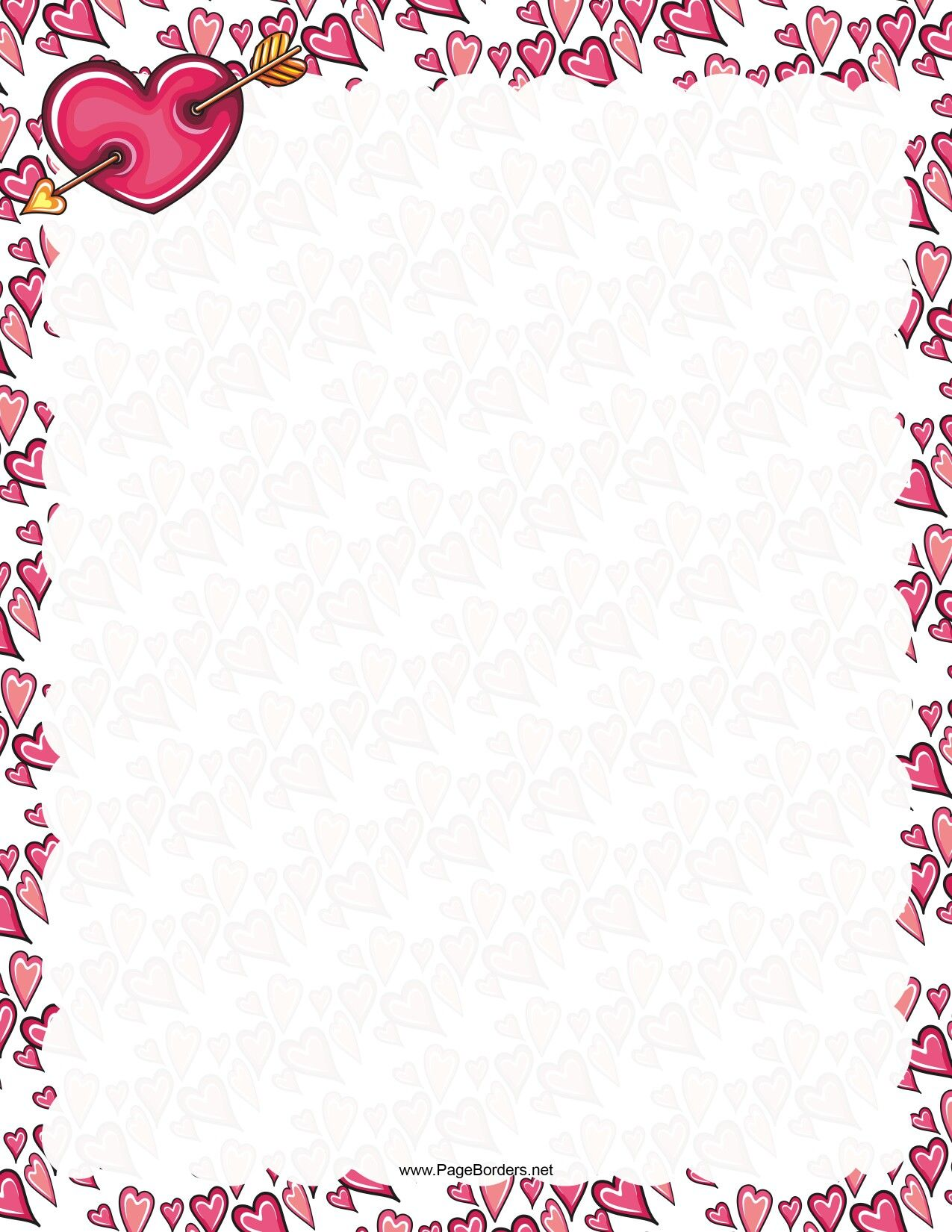 Celebrate Valentineu0027s Day With This Printable Romantic Border Adorned Withu2026  Printable Bordered Paper Designs Free