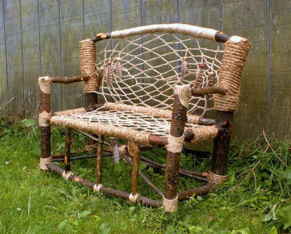Dream Catcher Mini Bench No 3 Recycled Tree Door Hagendorforiginals Woodworking Inspiration Dream Catcher Diy Twig Furniture