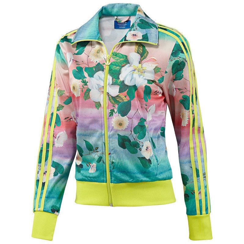 timeless design a4eaa 50395 New with tags! This pastel-coloured women s jacket blooms with a tropical  flower print designed in a collaboration between adidas Originals and  Brazilian ...