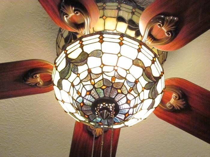 Found on estatesales hampton bay stain glass ceiling fan net hampton bay stain glass ceiling fan aloadofball Images