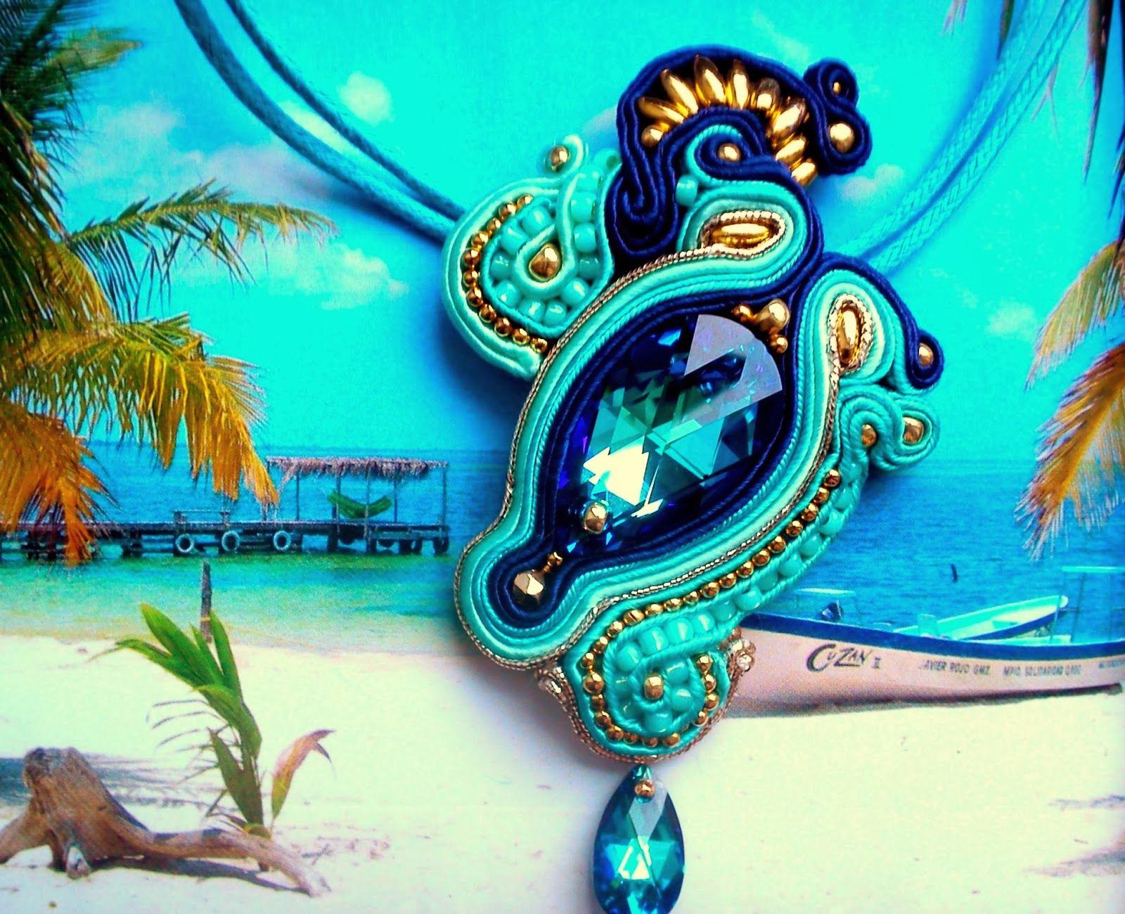 pendant       turquoiese + blue + gold
