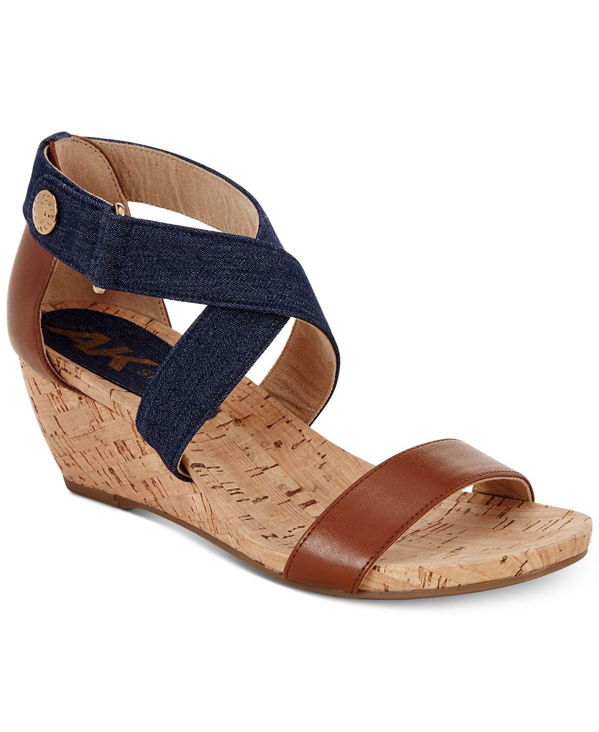 Anne Klein Sport Crisscross Wedge Sandals All Women's