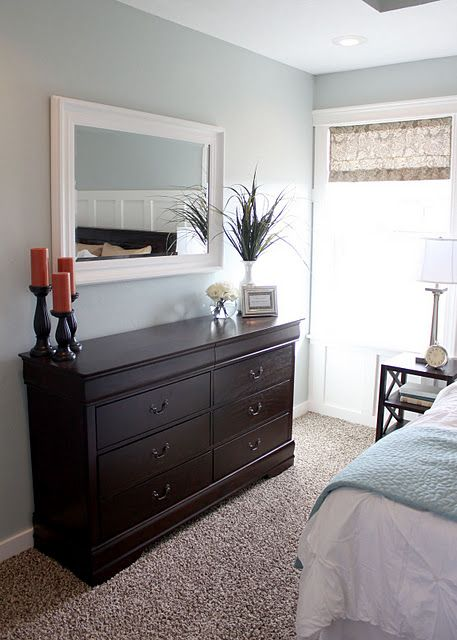 Small bedroom layout- I just really love the wall color!Luna Light ...